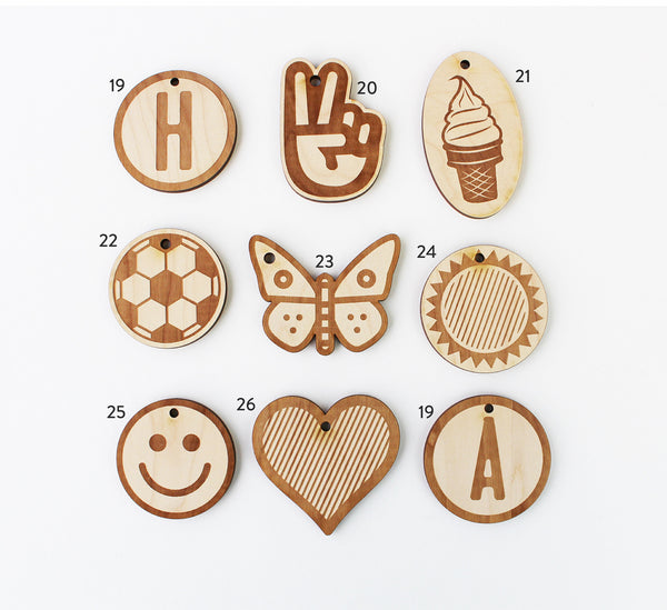Wooden Keychain / Backpack Charm