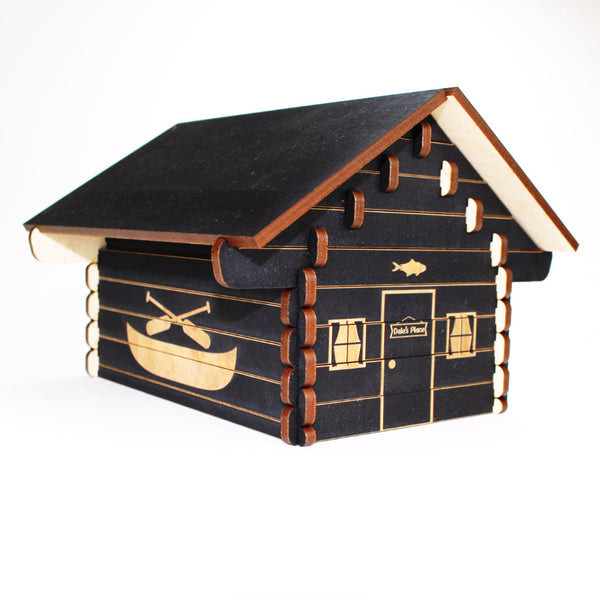 Log Cabin 3D Puzzle - Personalized