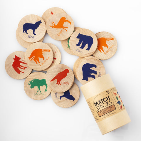 MATCH STACKS™ - Woodland Animals