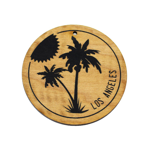Wooden Ornament - Palm Trees