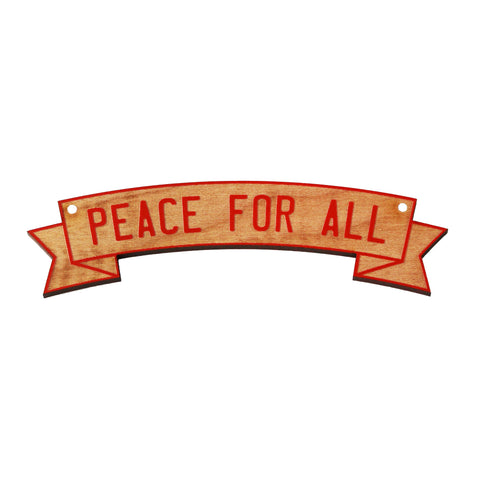 Wooden Ornament - Peace For All