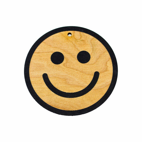 Wooden Ornament - Smiley Face