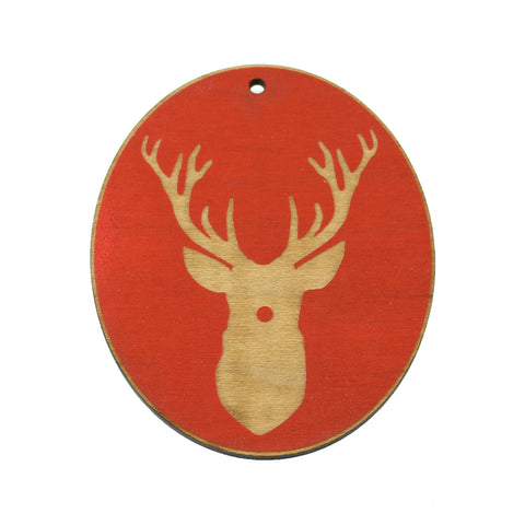 Wooden Ornament - Rudolph Stag