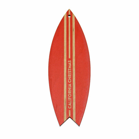 Wooden Ornament - Surf Board