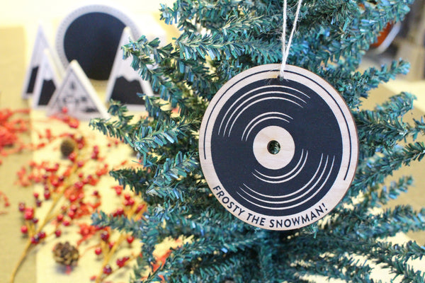 Wooden Ornament - Vinyl Record