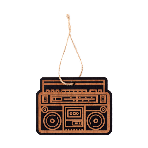 Wooden Ornament - Boombox