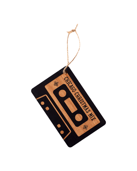 Wooden Ornament - Cassette Tape