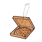 Wooden Ornament - Pizza Box