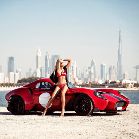 Jannarelly car Sasha ray photoshoot Anitas bikini