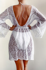 Bianca White Lace Cover Up
