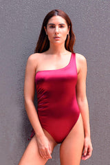 Burgundy Fitkini One Piece Swimsuit - ANITAS
