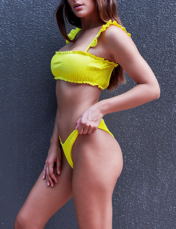 Yellow bathing suit for all