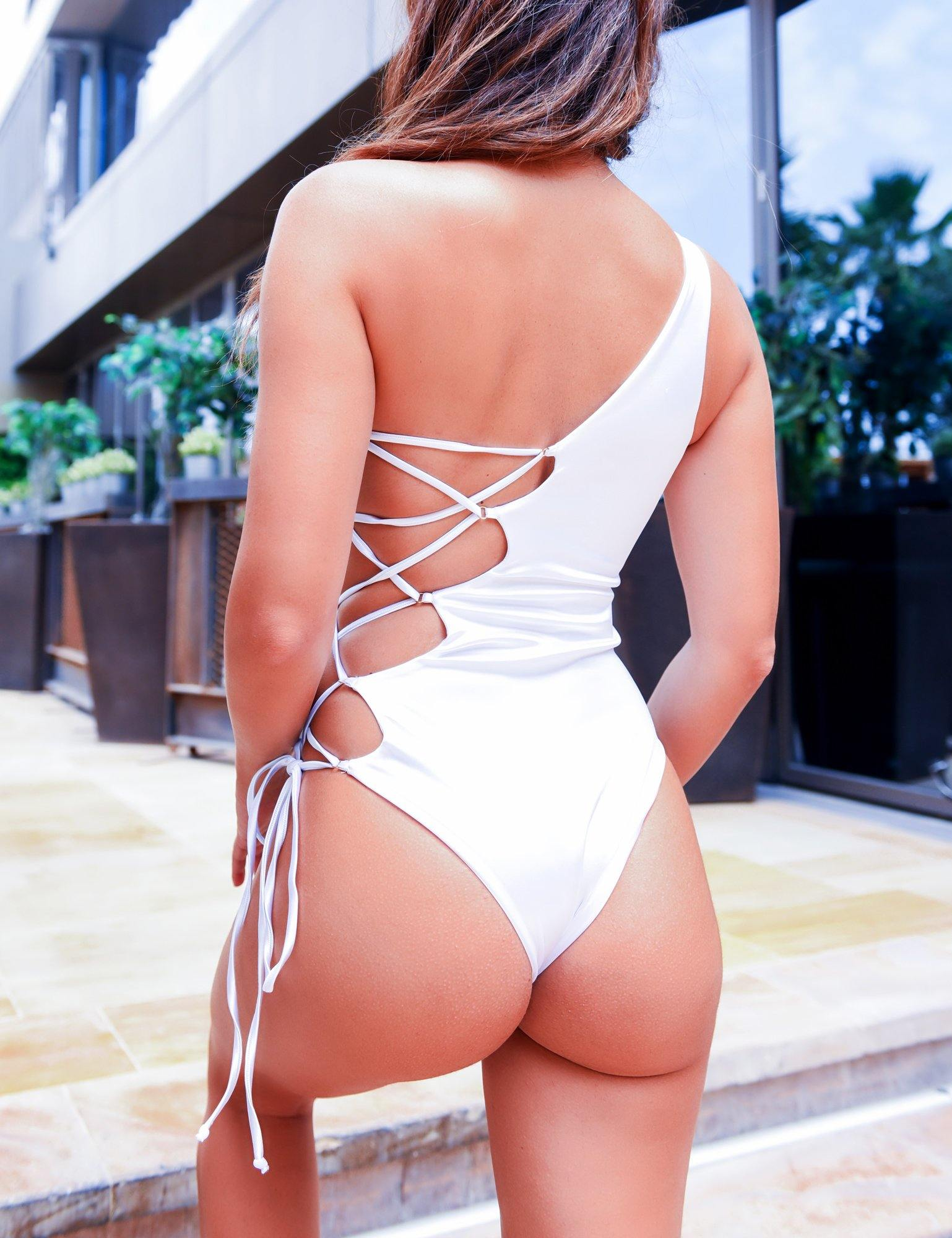 White monokini trendy design 2019