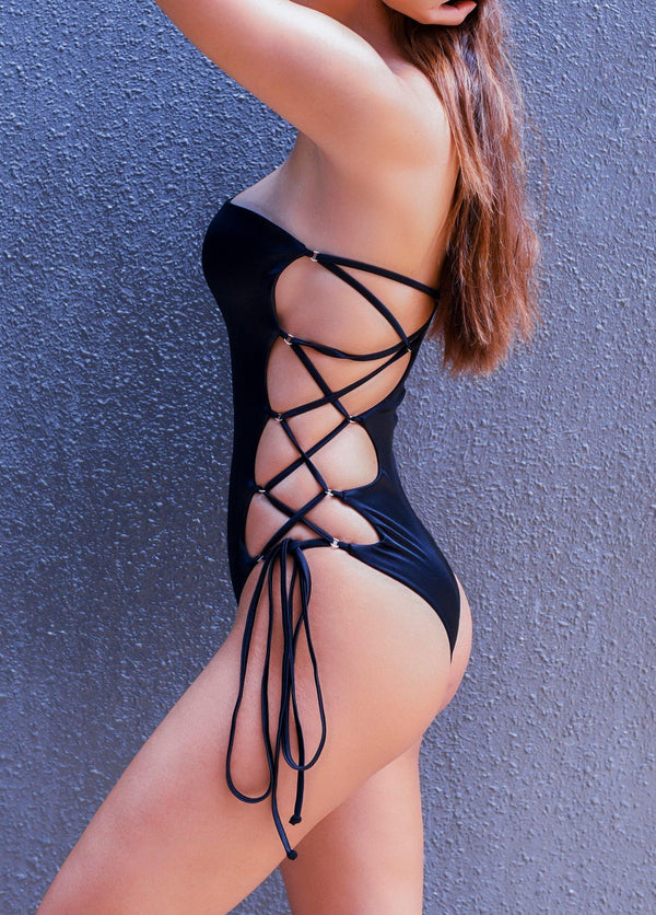 Black Laced monokini