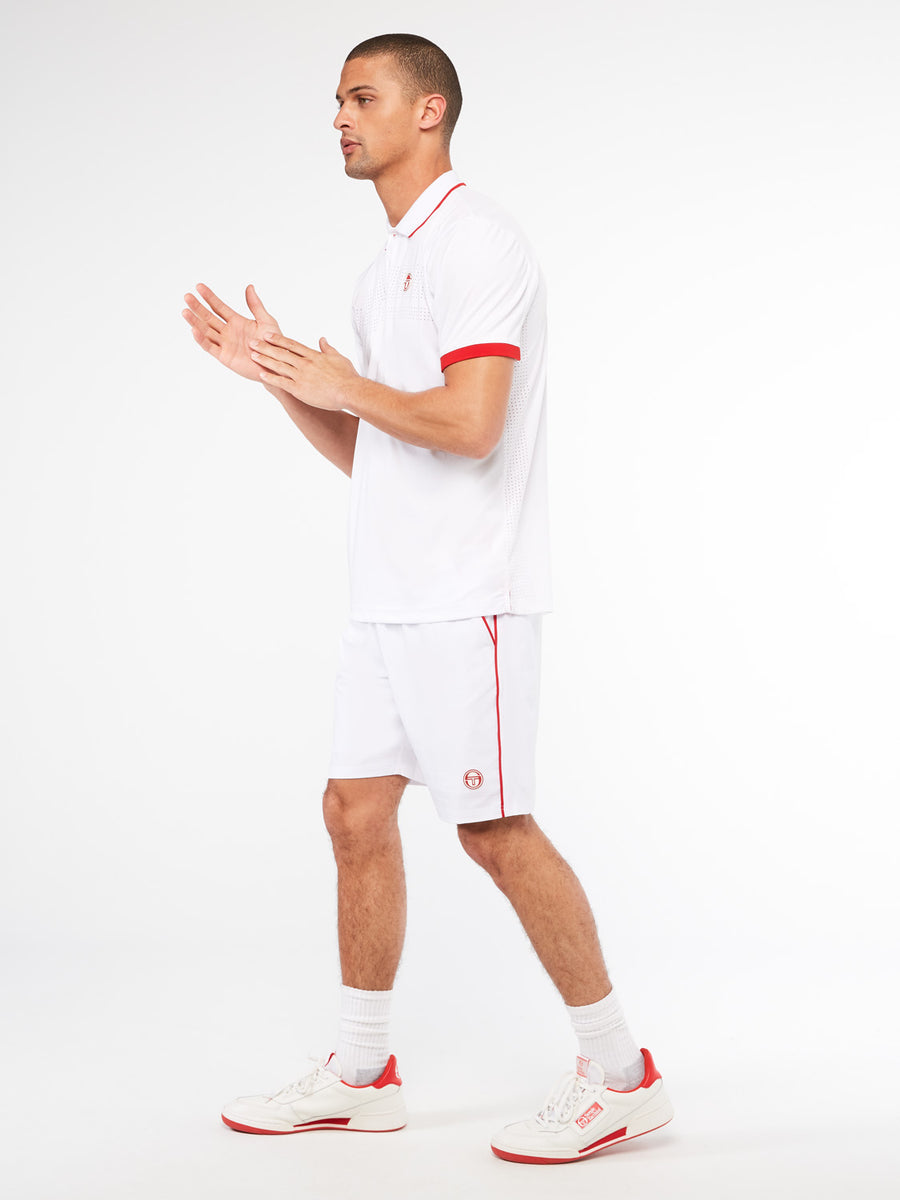 Tennis Young Line Pro Polo - BLANC DE BLANC/TANGO RED