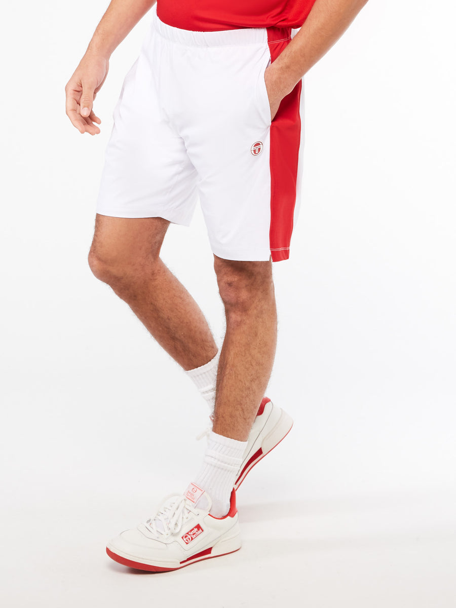 Tennis Young Line Pro Shorts - BLANC DE BLANC/TANGO RED