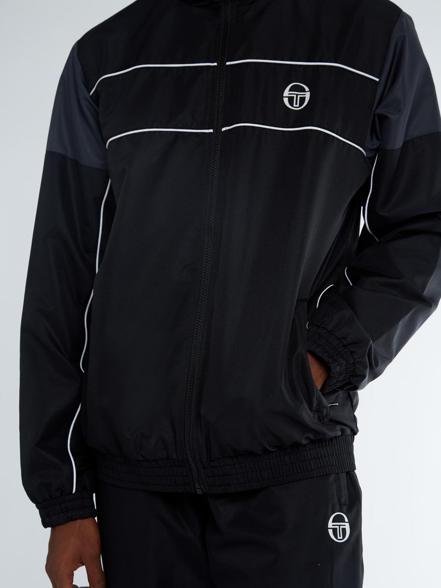 Berry Tracksuit - BLACK/RING GREY