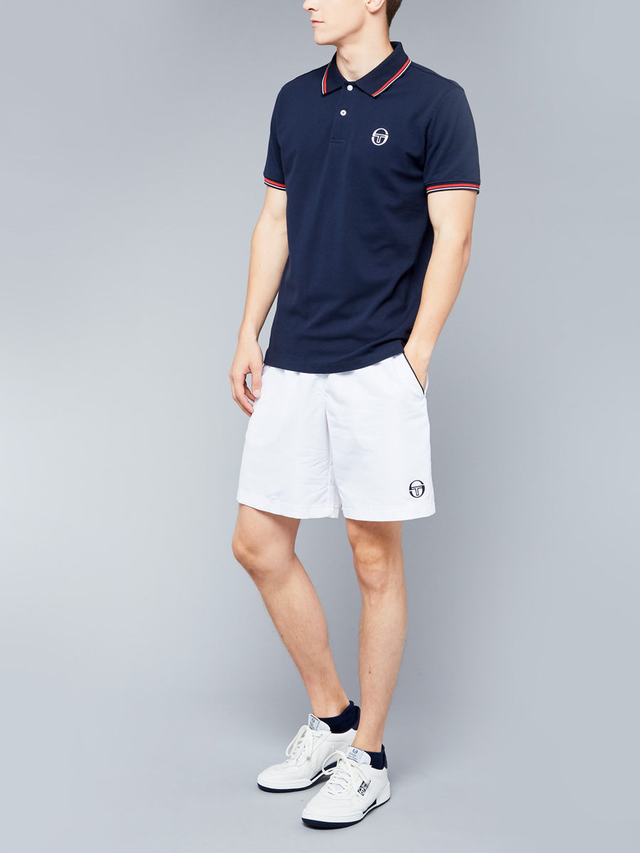 SERGIO 020 POLO - NAVY/VINTAGE RED