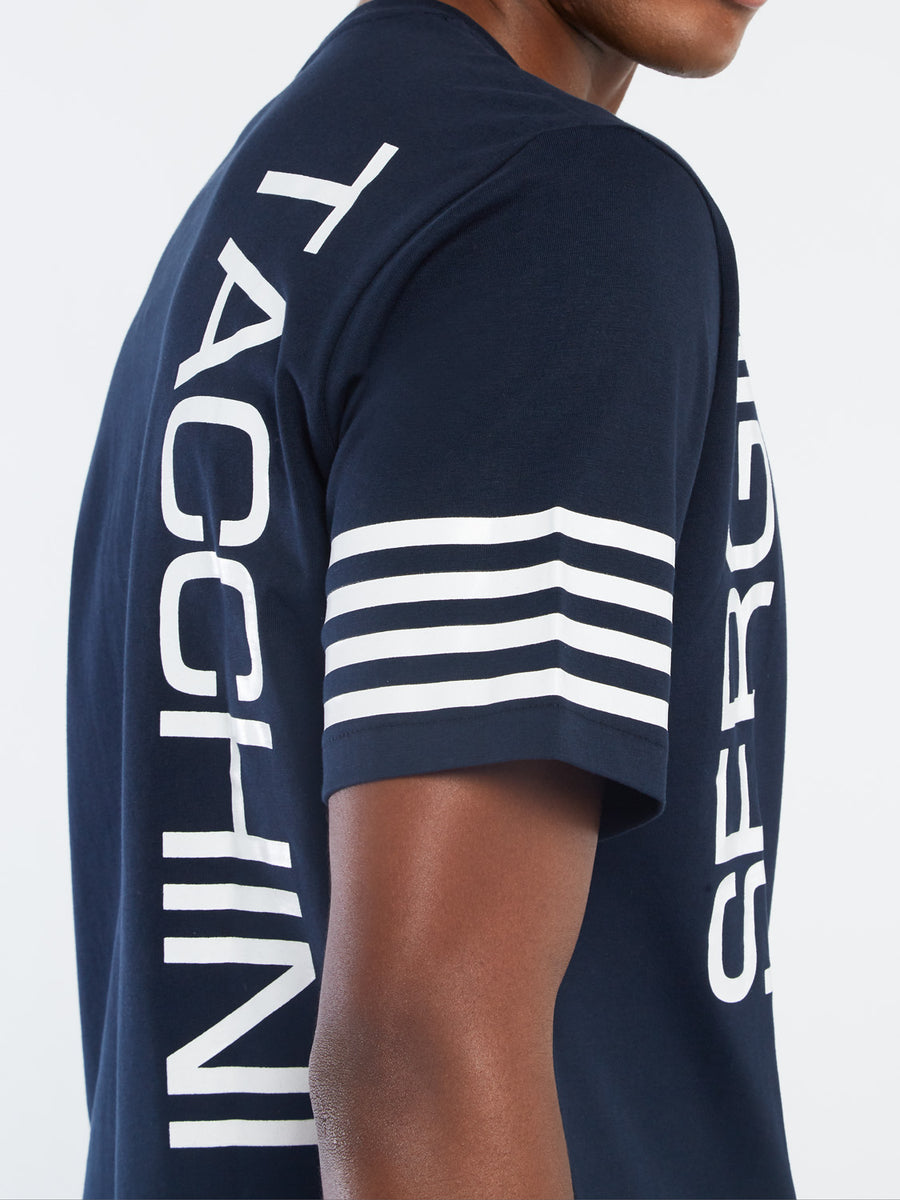 Dennis T-Shirt - NAVY/WHITE
