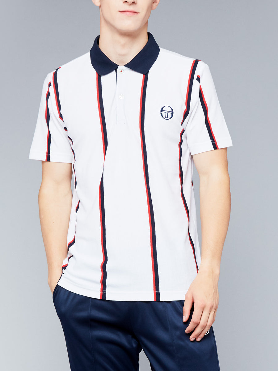 ENFORCER POLO ARCHIVIO - WHITE/NAVY