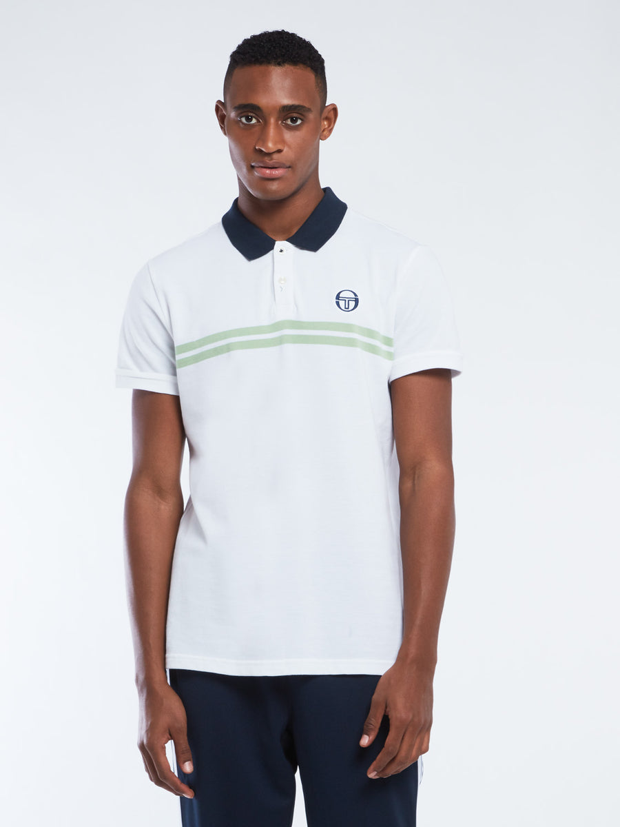 Supermac Polo Archivio - White/Quiet Green