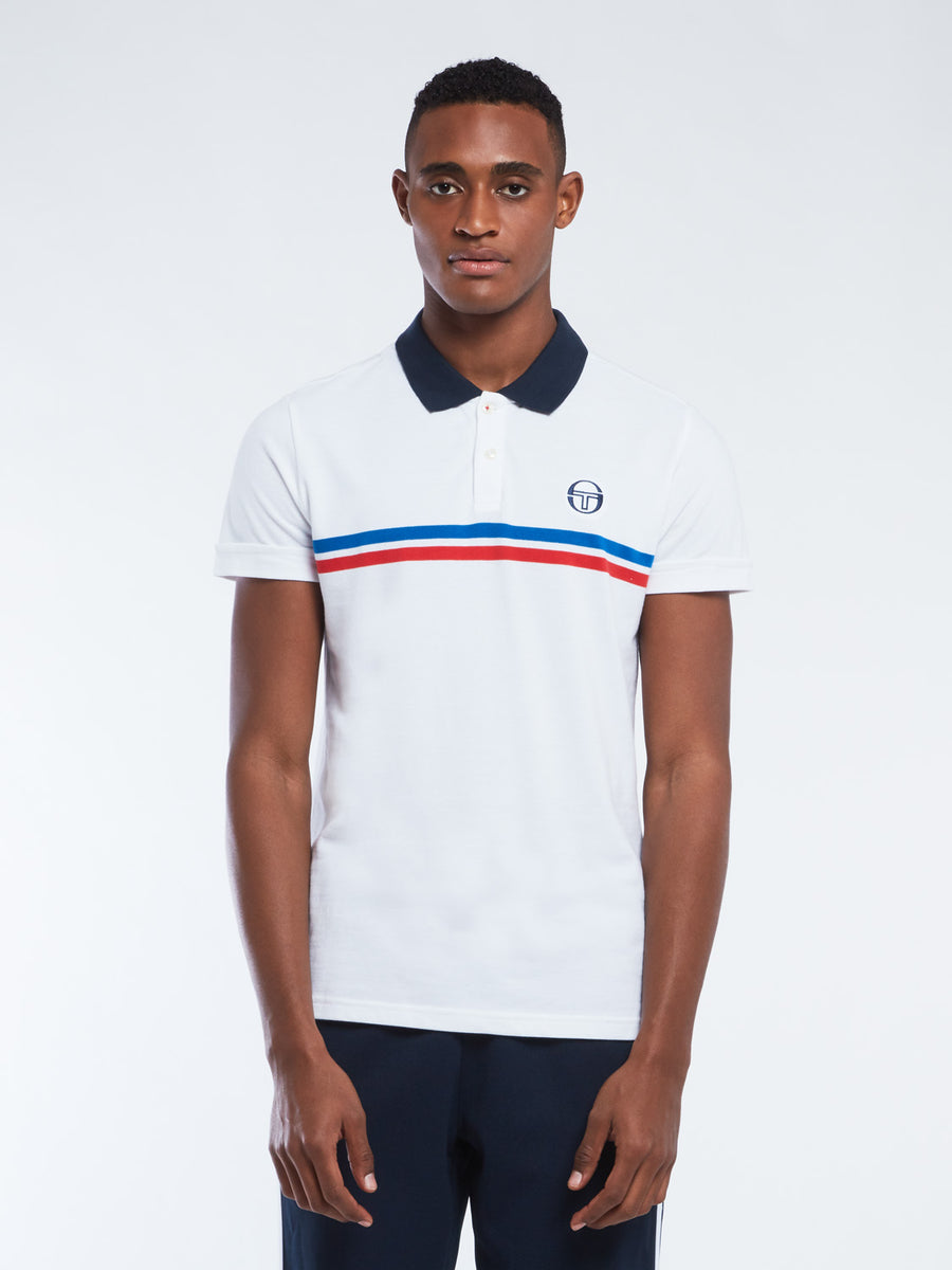 Supermac Polo Archivio - WHITE/ROYAL/VINTAGE RED