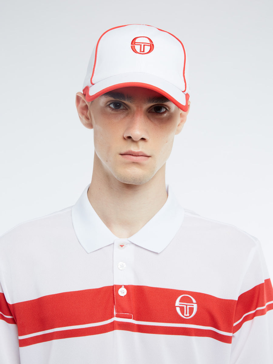 Club Tech Cap - WHITE/RED