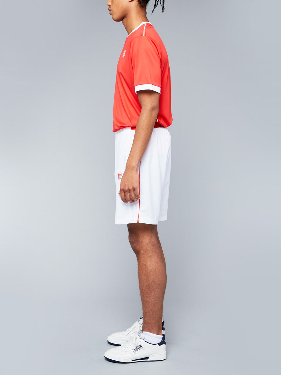 CLUB TECH SHORTS - WHITE/RED