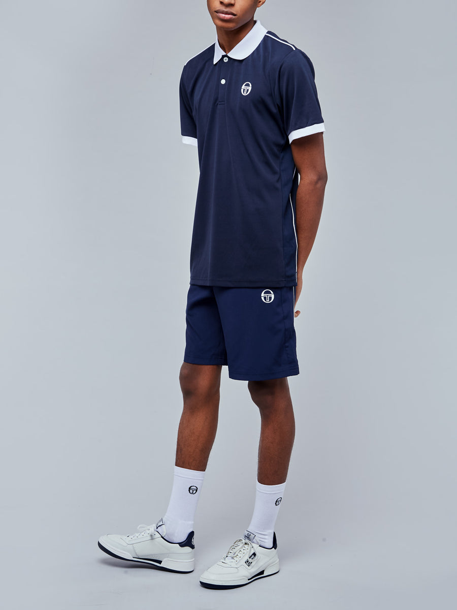 CLUB TECH POLO - NAVY/WHITE