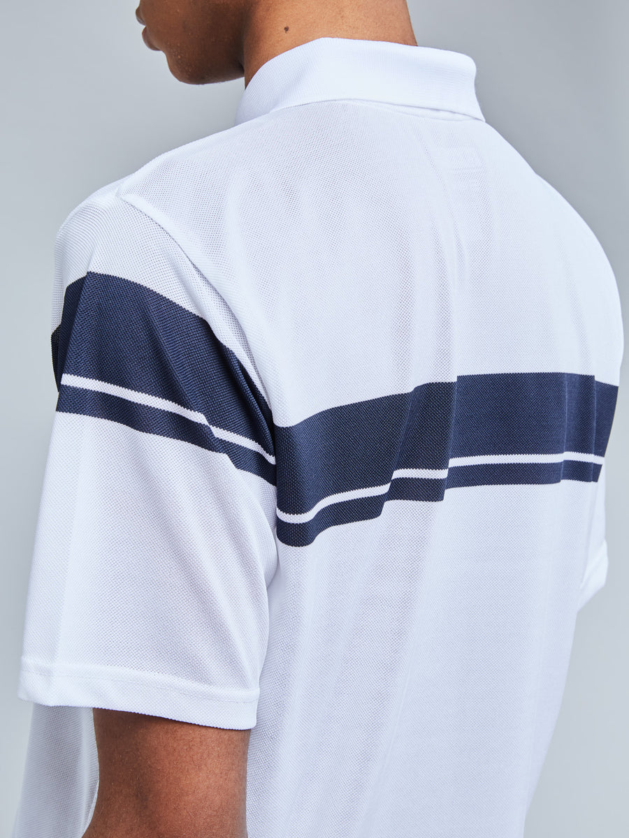 YOUNG LINE PRO POLO - WHITE/NAVY
