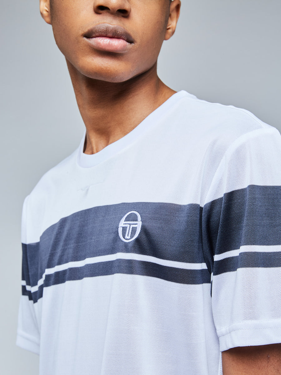 YOUNG LINE PRO T-SHIRT - WHITE/NAVY
