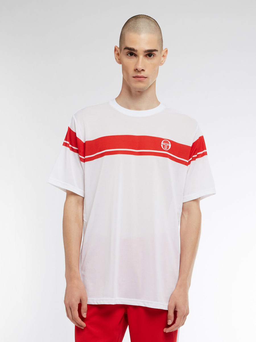 Young Line Pro T-Shirt - WHITE/RED