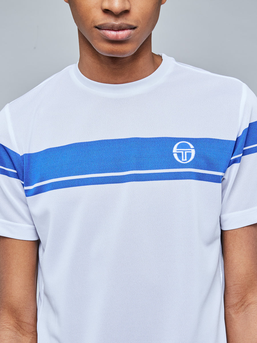 YOUNG LINE PRO T-SHIRT - WHITE/ROYAL