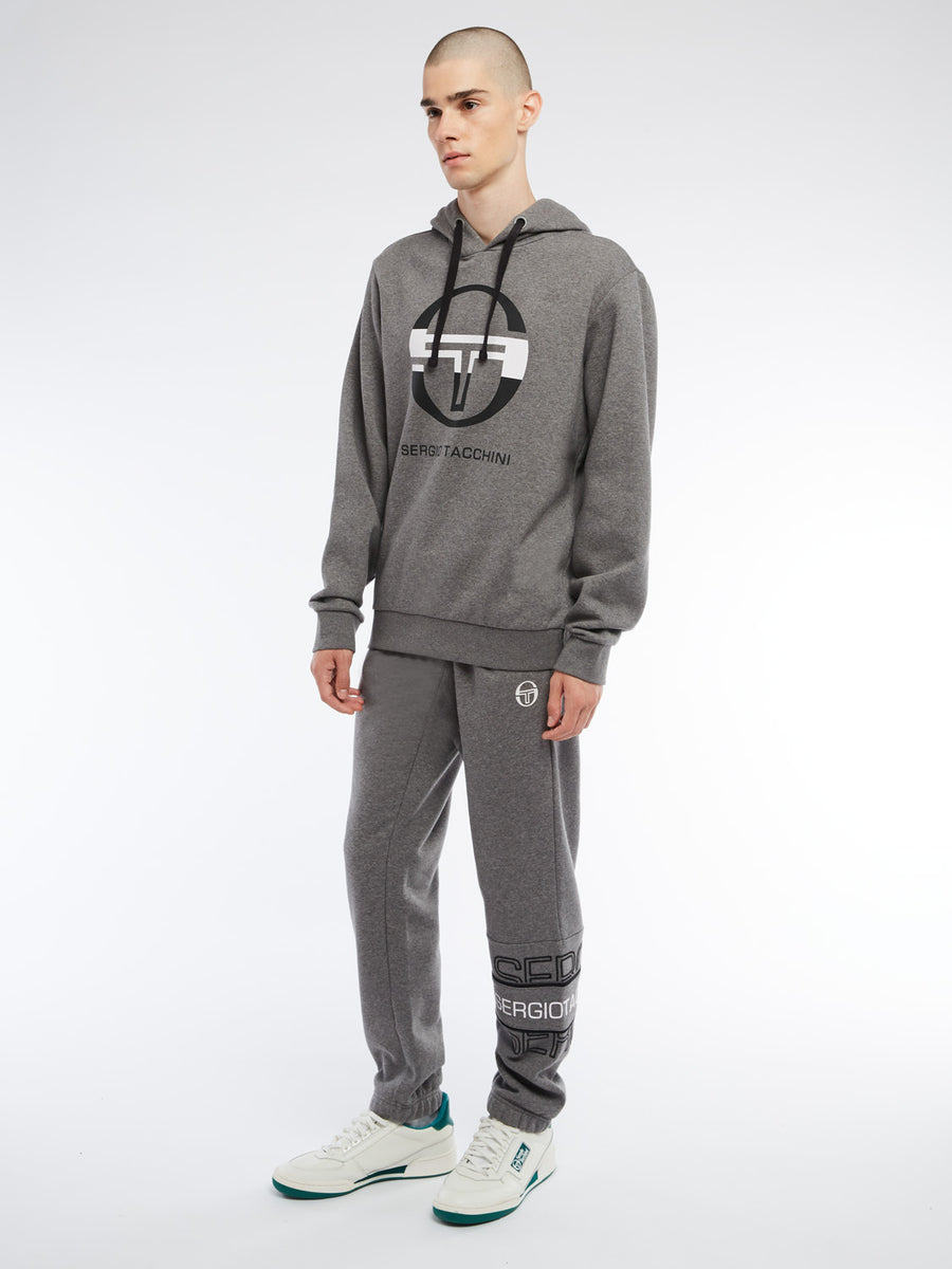 Zion Hoodie - DARK GREY MELANGE/WHITE/BLACK