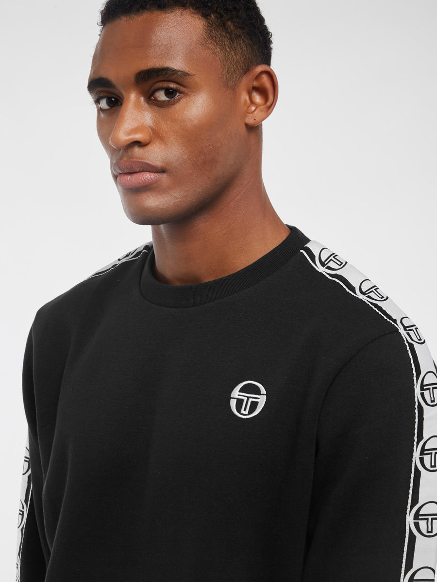 Delaco Sweatshirt - BLACK/WHITE