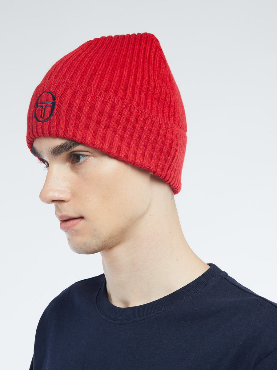 Dion Beanie - APPLE RED/NAVY