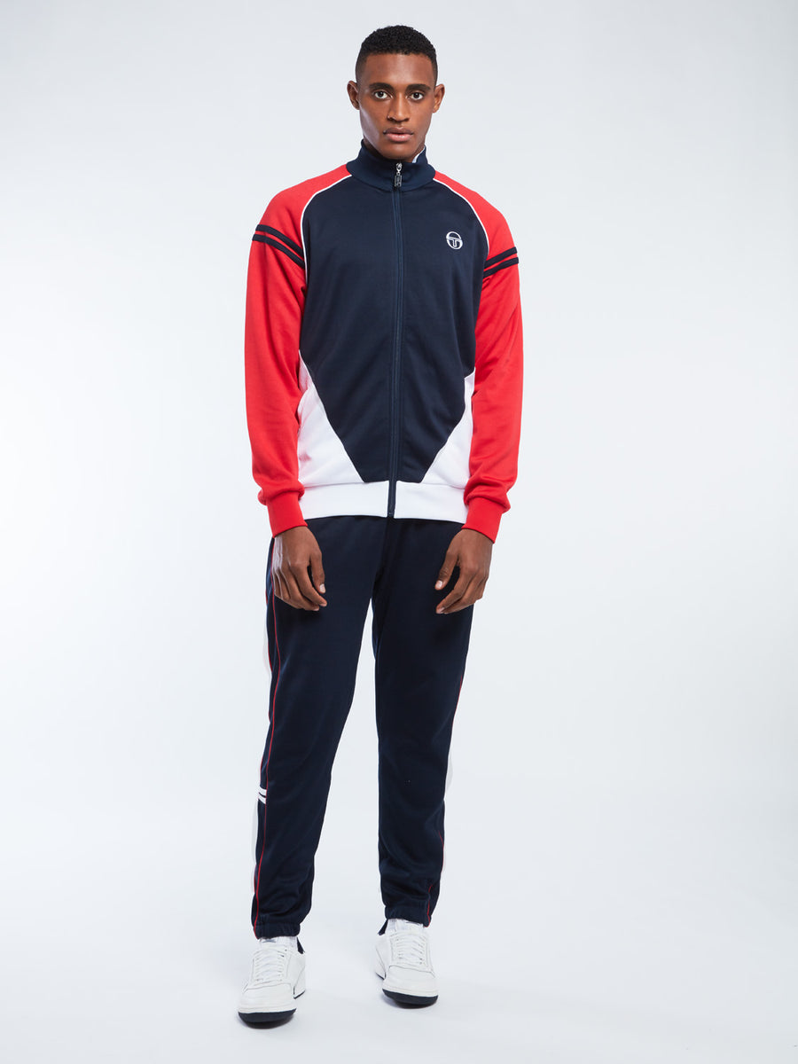 Ascot Track Jacket Archivio - NAVY/RED
