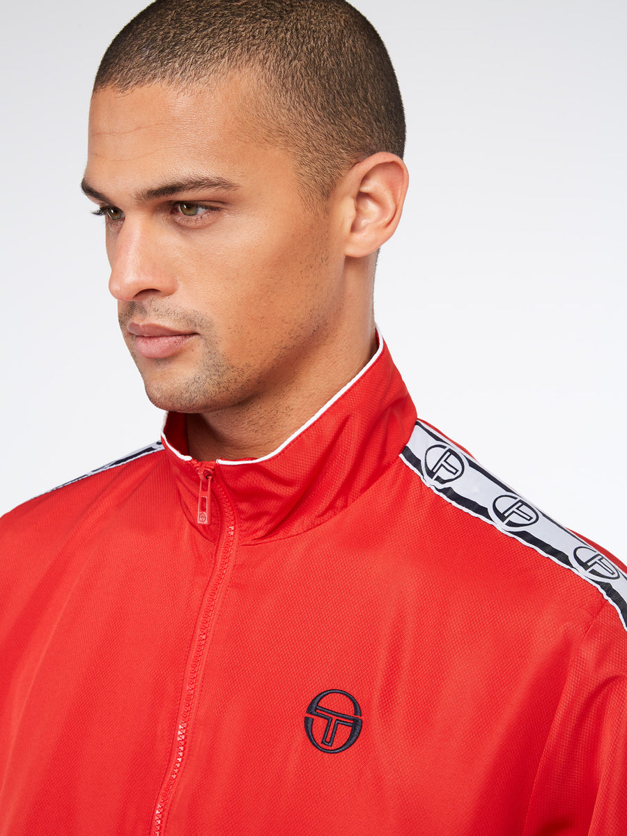 Doral Track Jacket - RED/NAVY