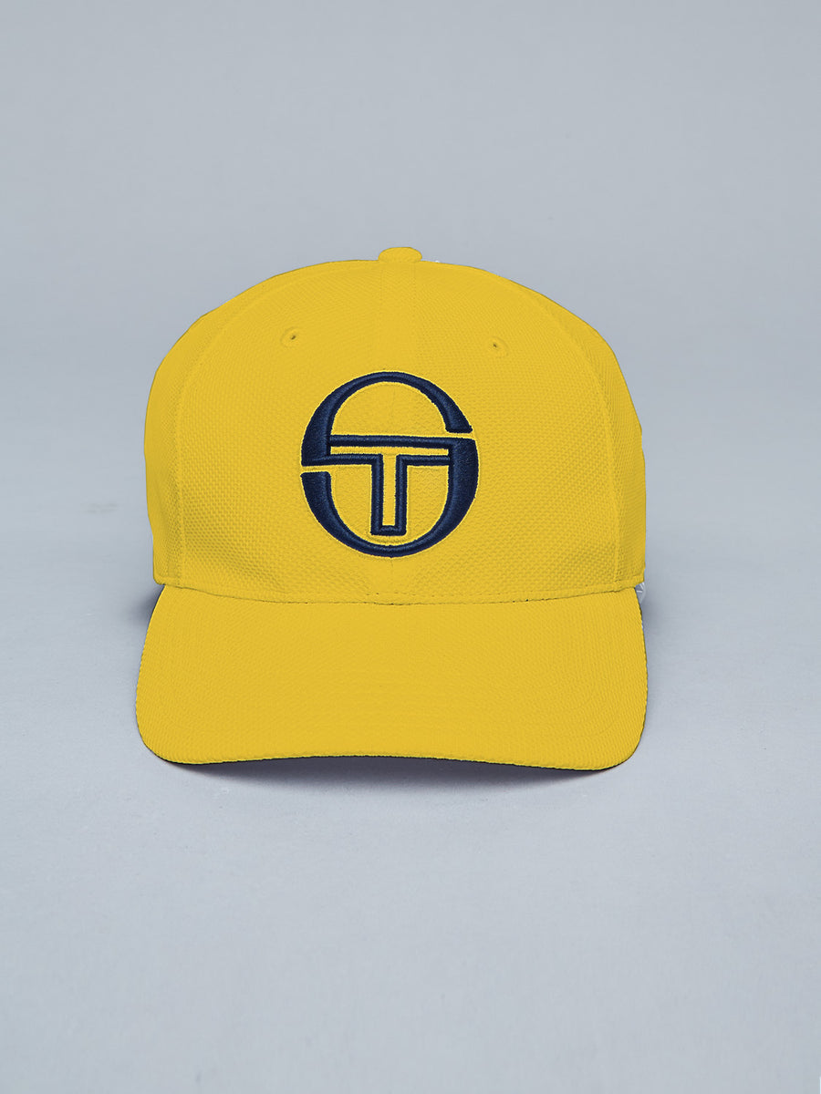 CHAIN CAP - SAFFRON YELLOW/NAVY