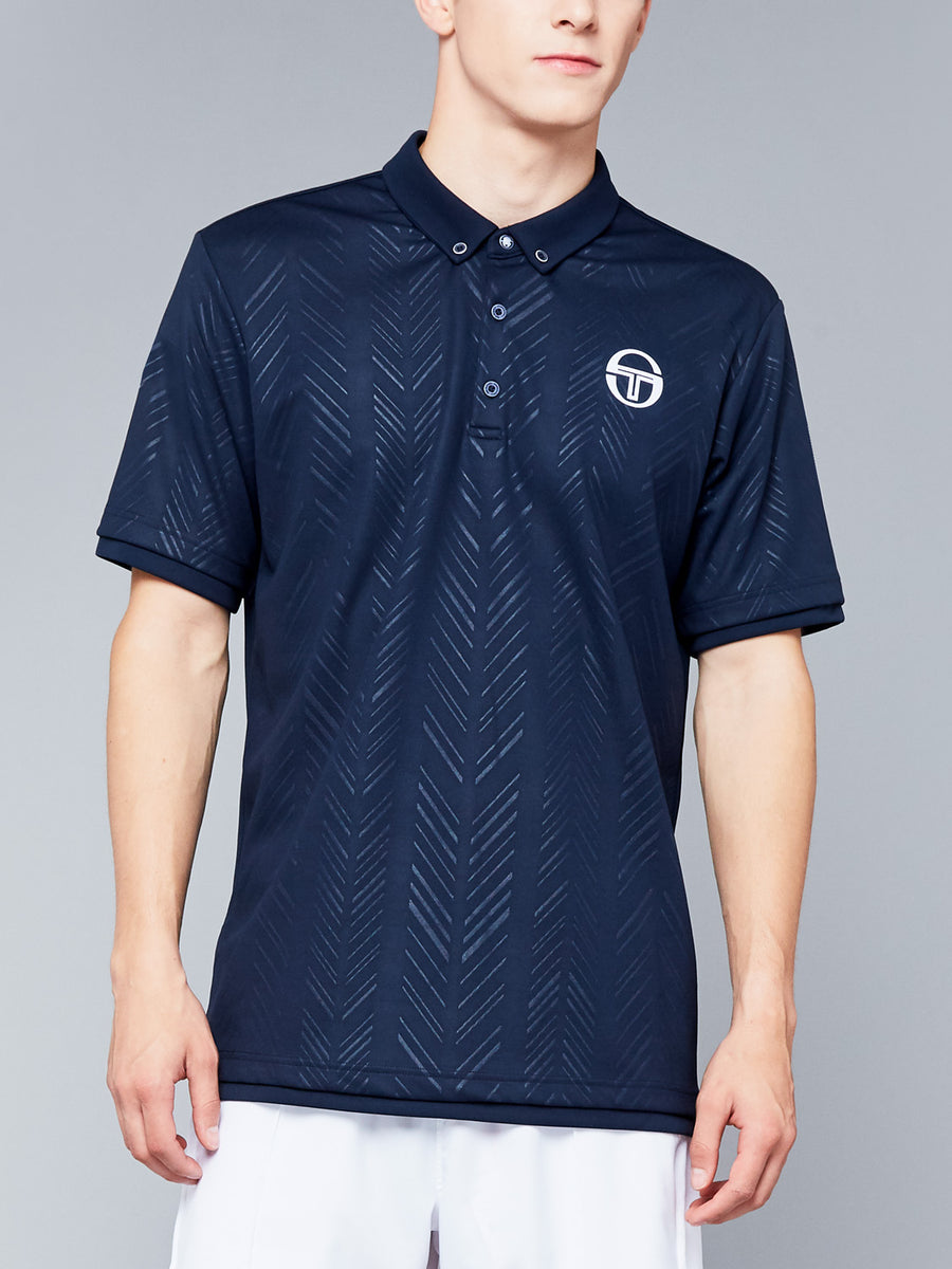 CHEVRON POLO - NAVY/WHITE