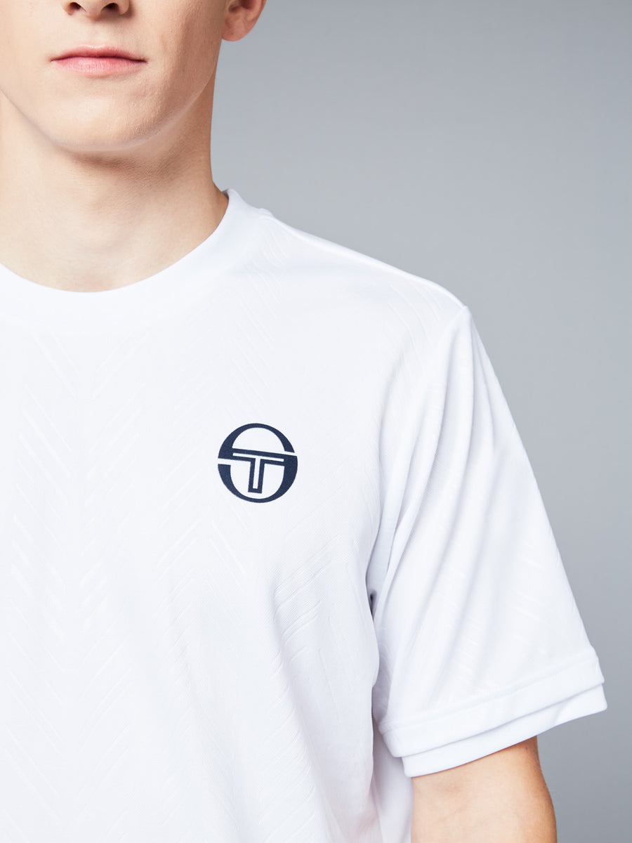 CHEVRON T-SHIRT - WHITE/NAVY