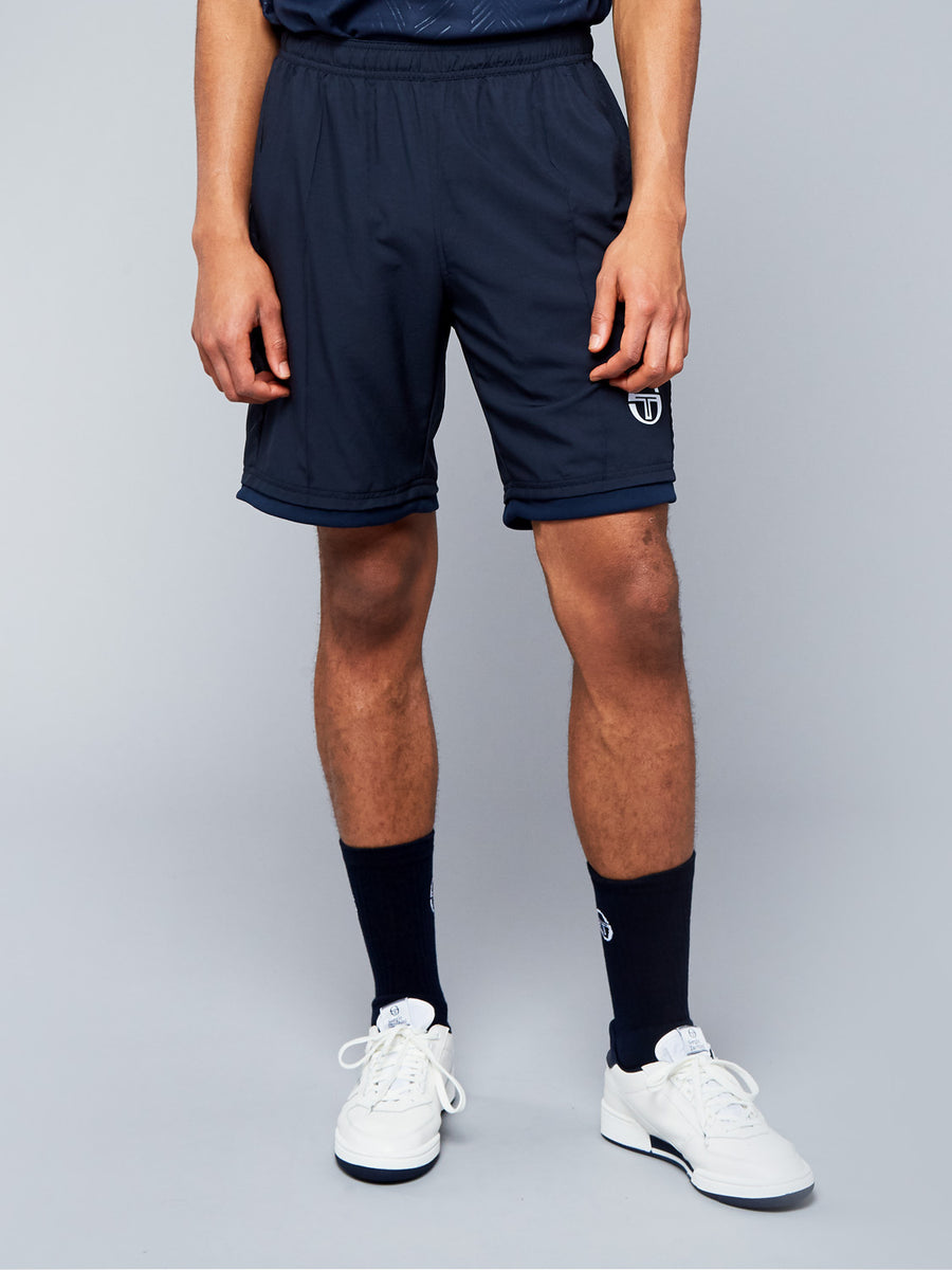 CHEVRON SHORTS - NAVY/WHITE