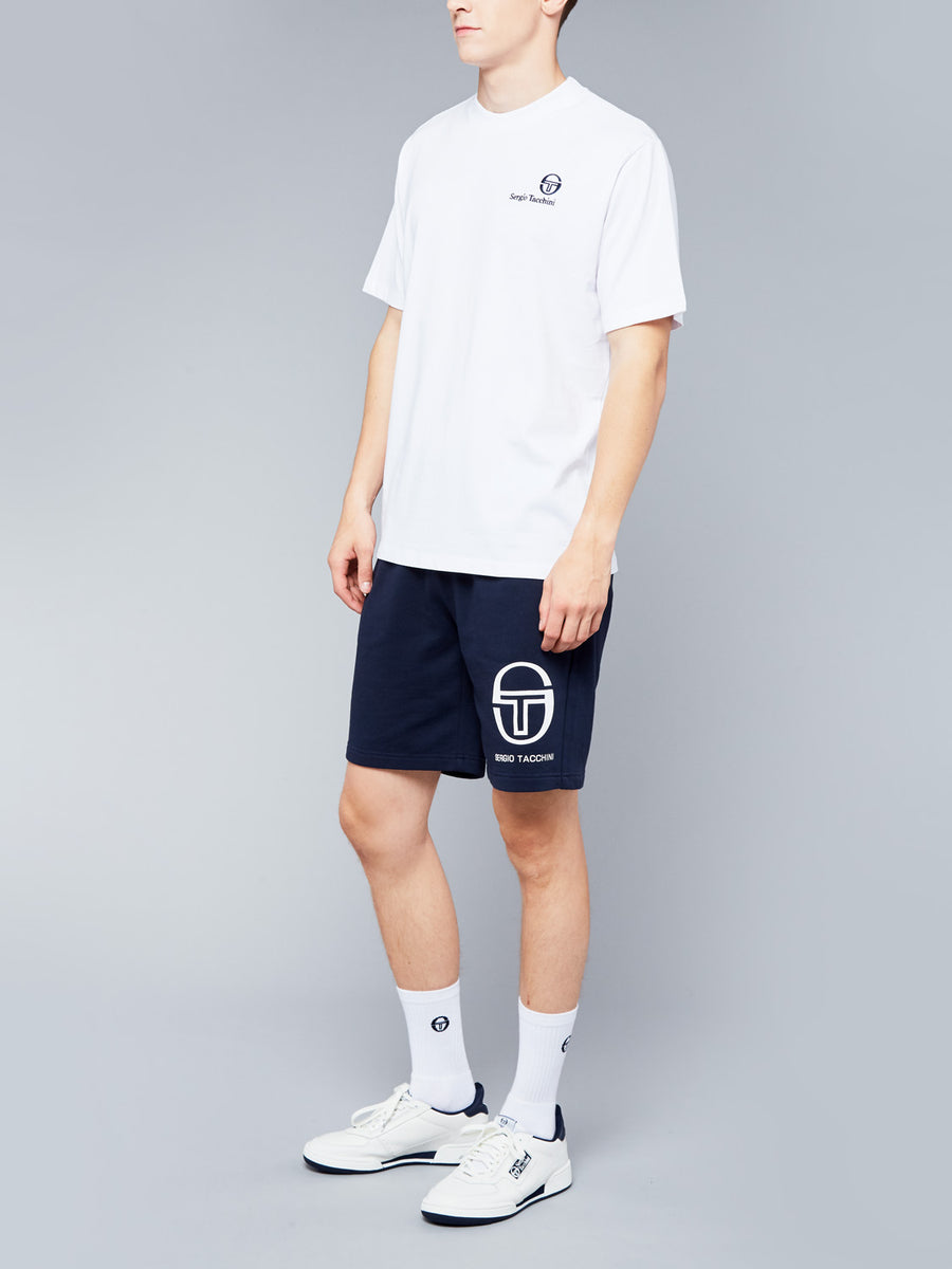 FELTON T-SHIRT - WHITE/NAVY