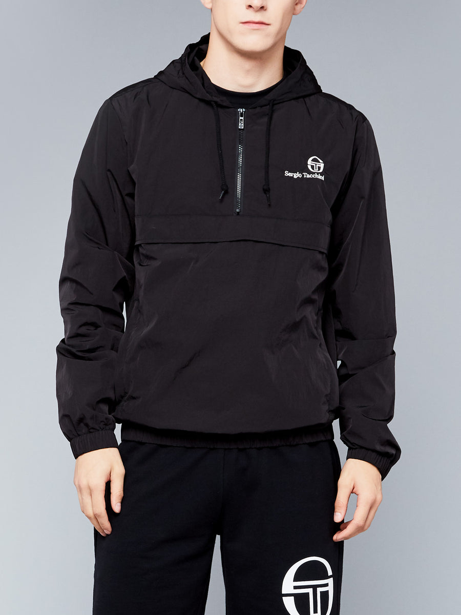FORDEN HOODIE TRACK TOP - BLACK/BIRCH
