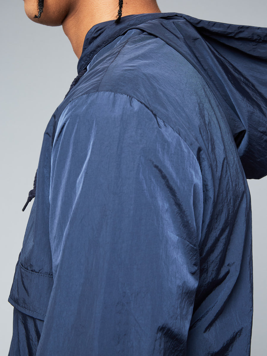 FORDEN HOODIE TRACK TOP - NAVY/WHITE