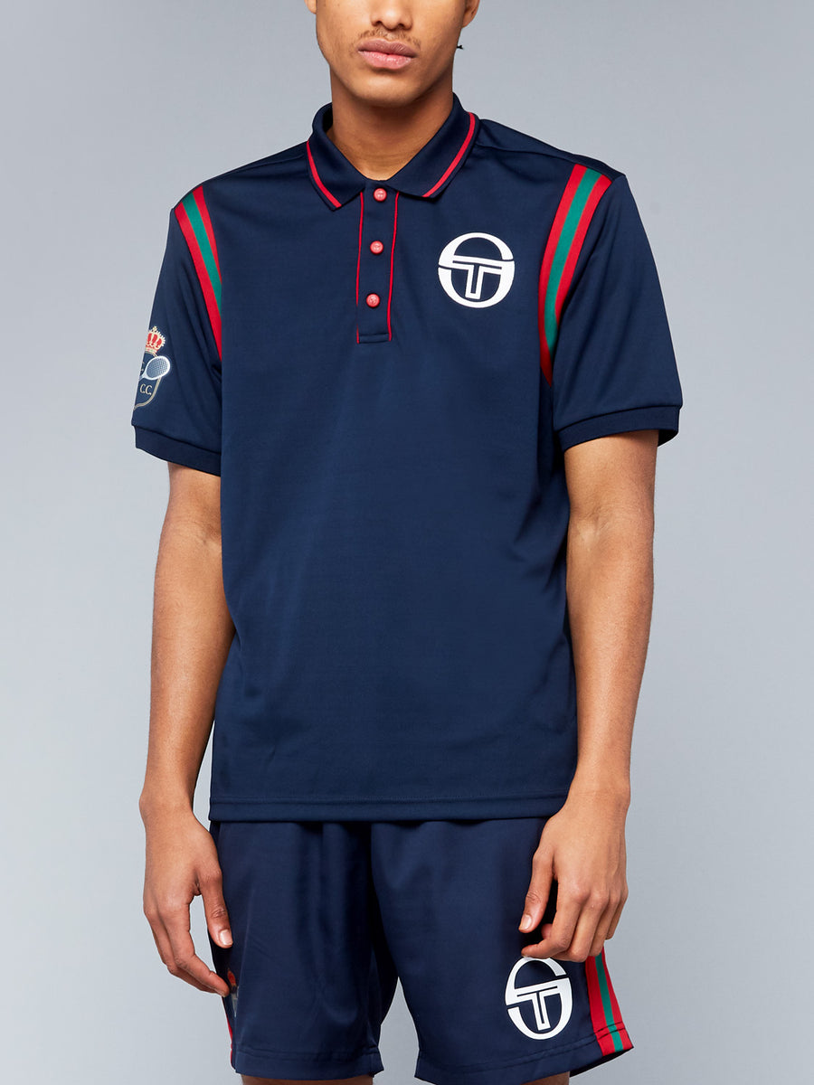 FRISCO/MC/STAFF POLO - NAVY/APPLE RED