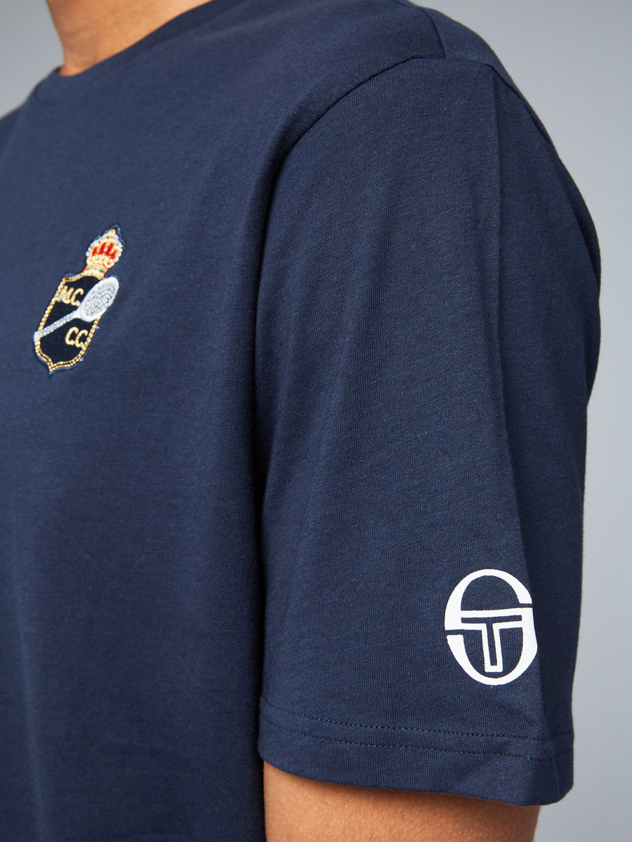 FREDONIA/MC/MCH T-SHIRT - NAVY/WHITE