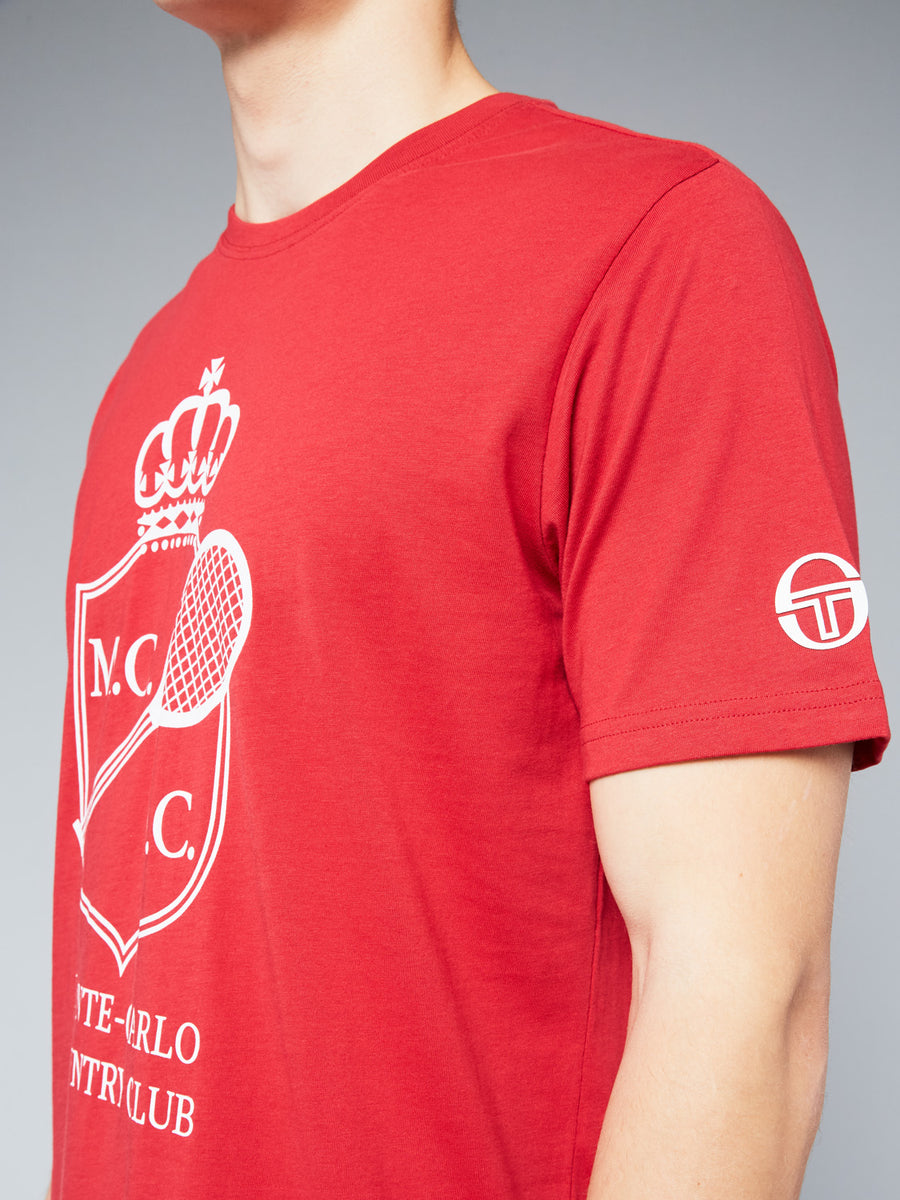 FULDA/MC/MCH T-SHIRT - APPLE RED/WHITE