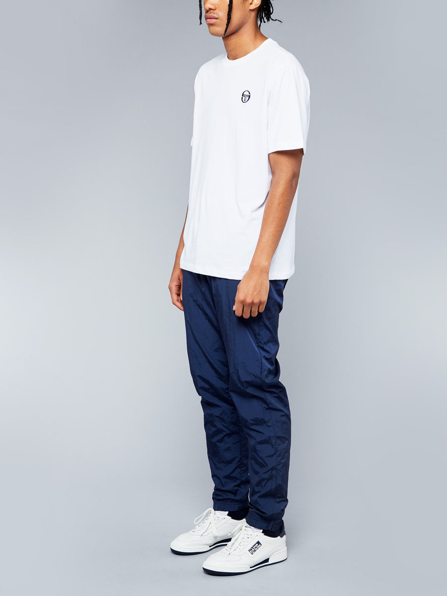 SERGIO SS20 T-SHIRT - WHITE/NAVY