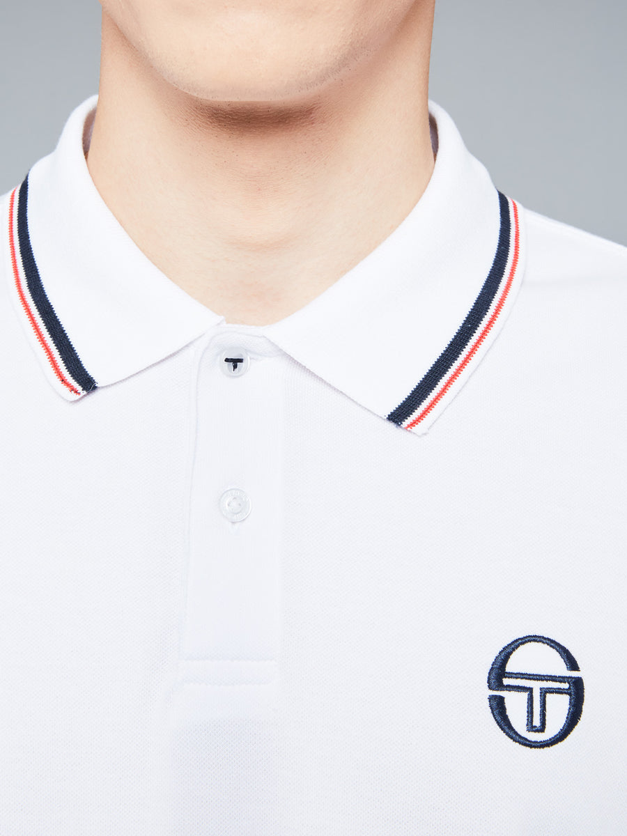 SERGIO 020 POLO - WHITE/VINTAGE RED